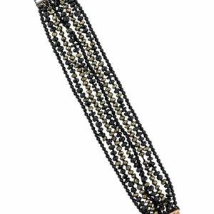 Chan Luu Onyx Tourmaline Pyrite Bracelet
